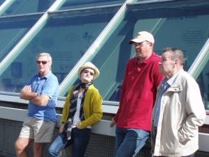 Bob, Steve, dad & me at Falkirk wheel
