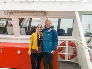 Liz & me ferry to orkney